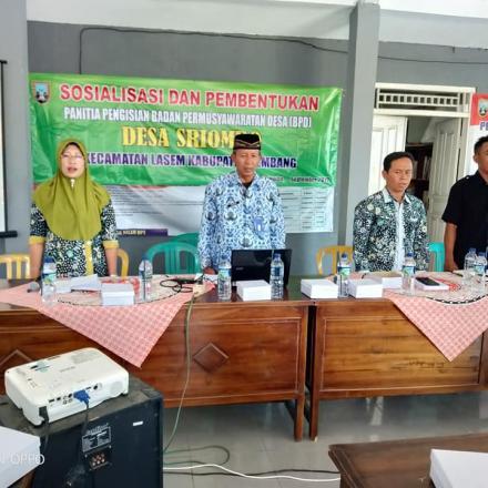 Syarat Administrasi Calon  Anggota Badan Permusyawaratan Desa (BPD) Desa Sriombo